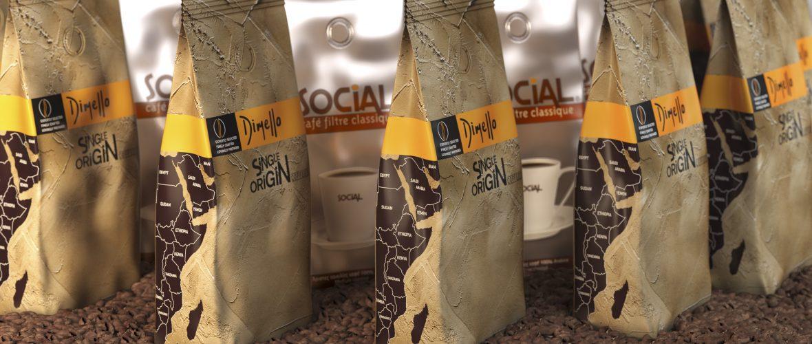 Showcase Coffee dimello coffee packaging 500gr