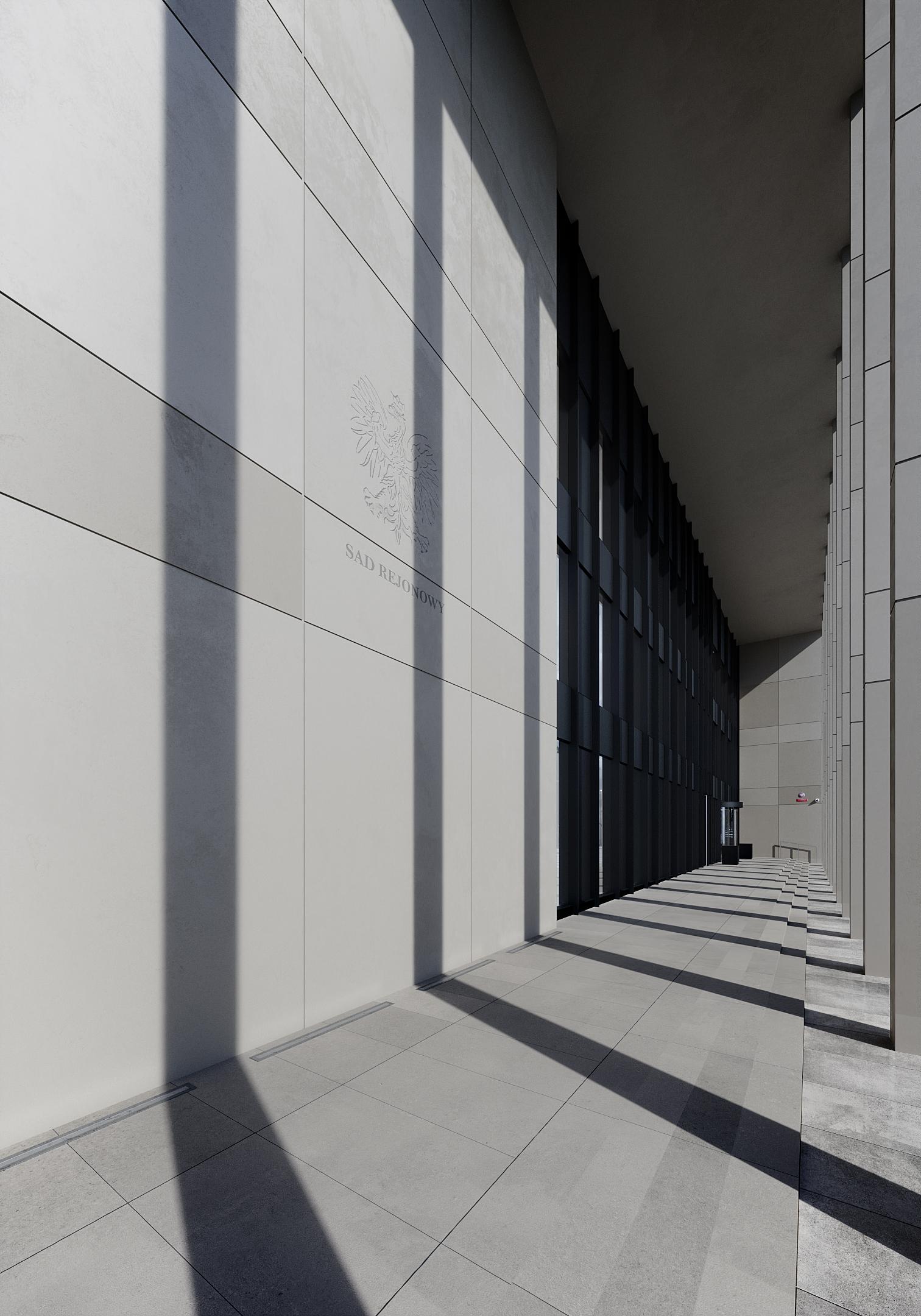 architecture, digital art, courthouse, poland, cgi, archviz,