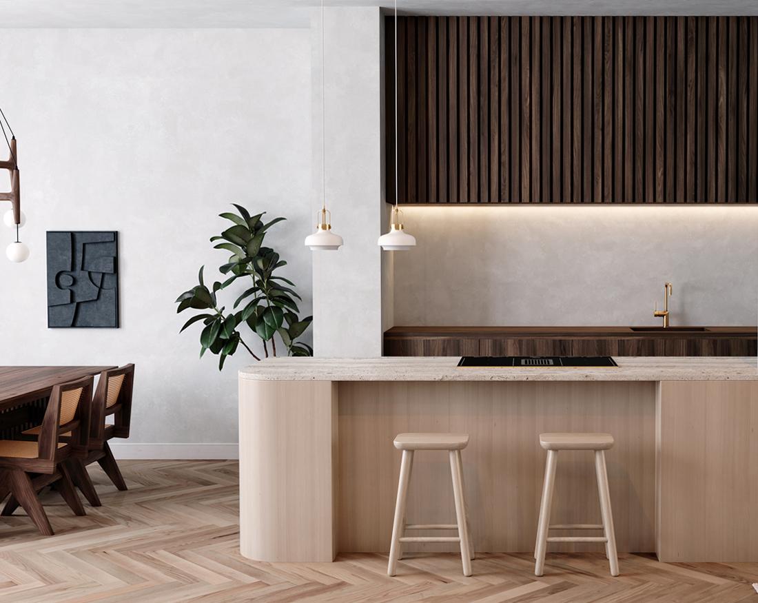mel interiors 3d visuals kitchen
